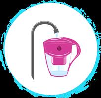 קנקן סינון מים + 5 פילטרים אובליים DAFI UNIMAX