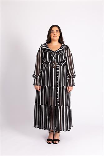 שמלת ג'יין פסים