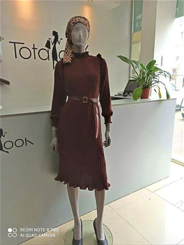 שמלת סרנה סופר קלאס בורדו