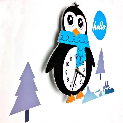 שעון קיר מעוצב- פינגווין