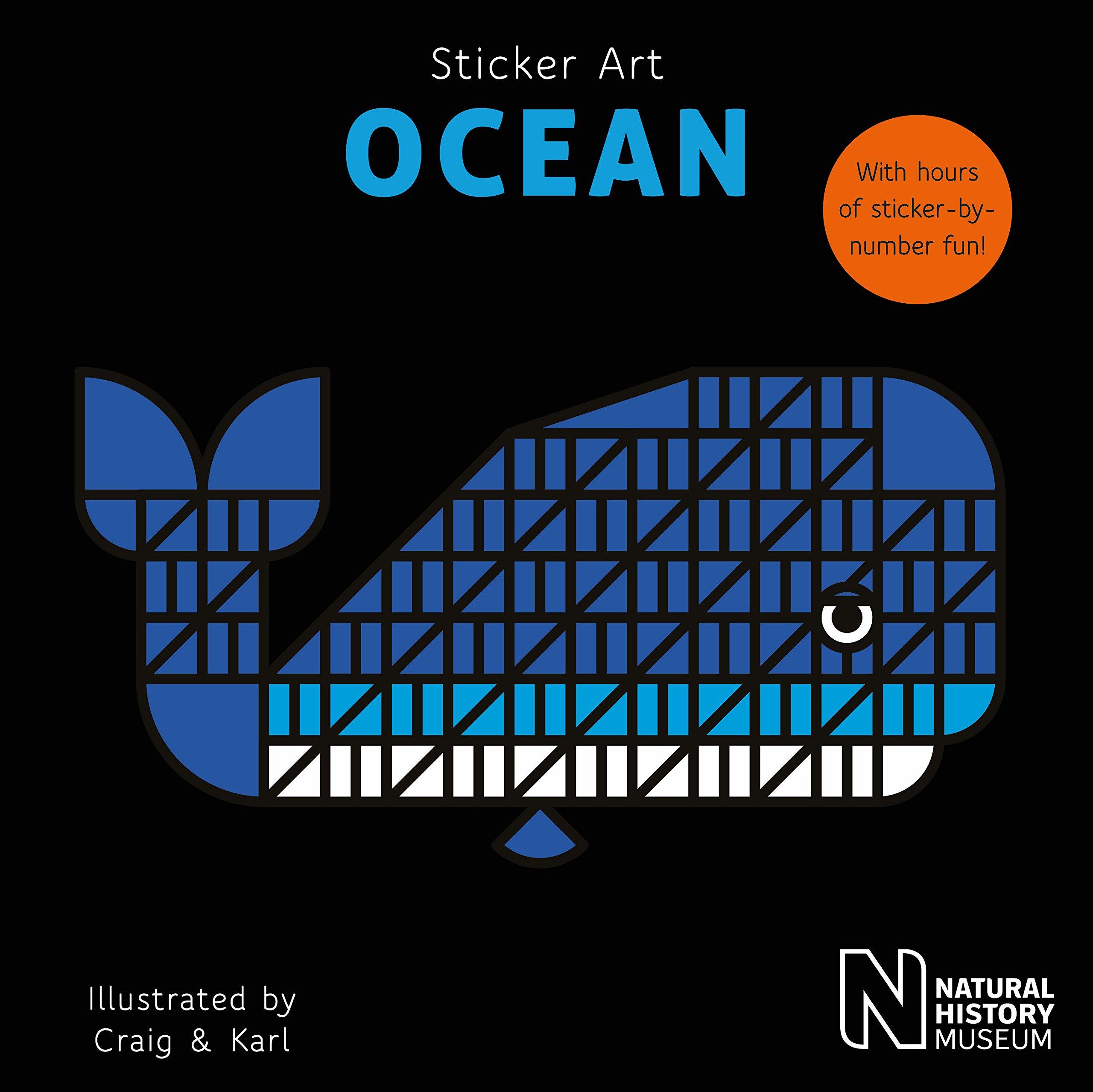 יצירה במדבקות גיאומטריות - חיות ים