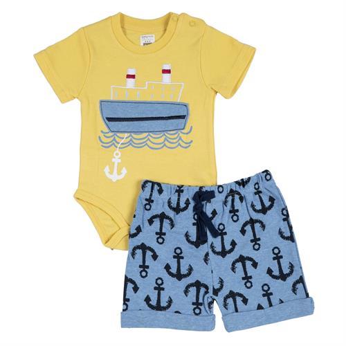 חליפת בגד גוף ספינה צהוב