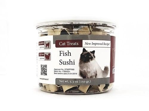 איי קט חטיף סושי דג לחתול 150 גרם