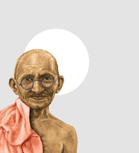 הדפס קנבס - גנדי