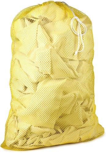 """שק כביסה בגודל 50*76ס""""מ - צבע צהוב"""
