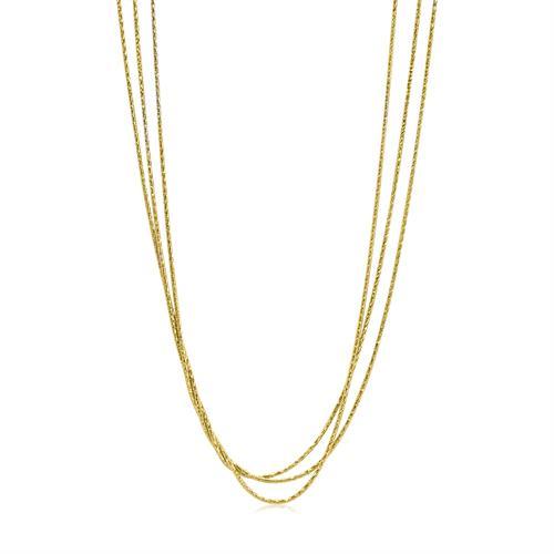 שרשרת זהב לאישה 3 שכבות