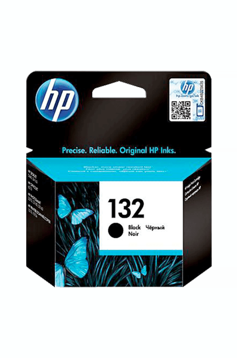 ראש דיו שחור מקורי HP 132