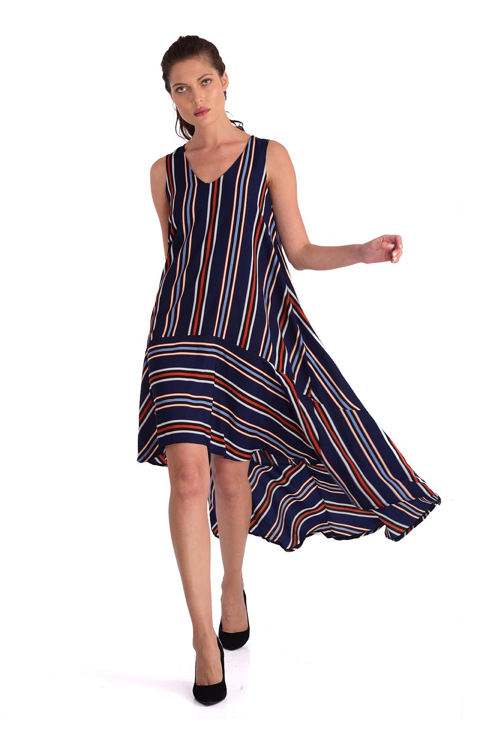שמלה קריסטין פסים כחול
