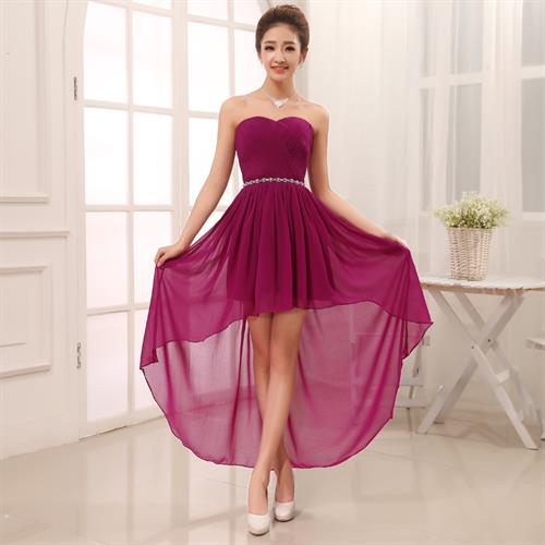 שמלת שושבינות בד שיפון מעוצבת ואופנתית במגוון צבעים