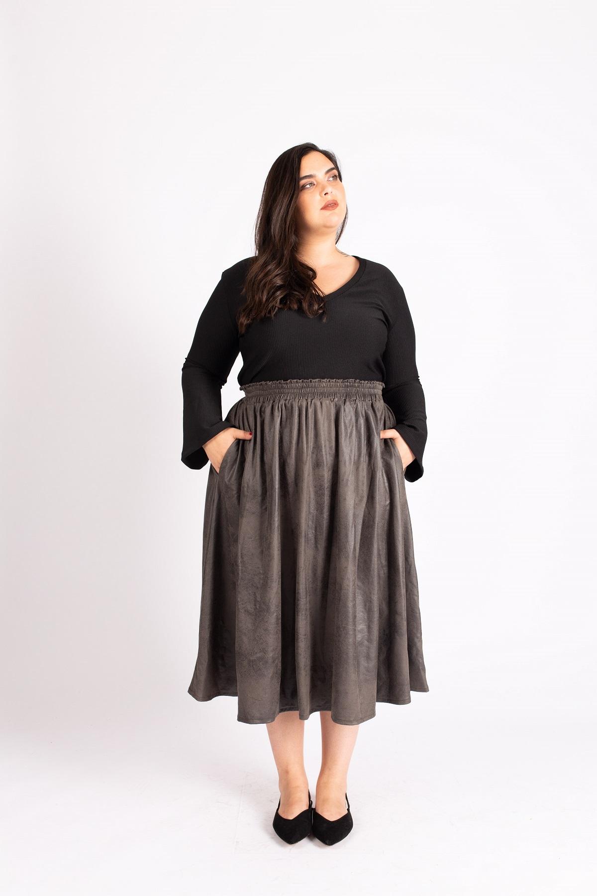 חצאית לורי אפורה
