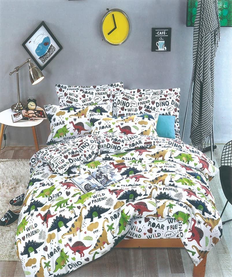 סט מלא מיטה וחצי דגם דינזאור 2 דגמים