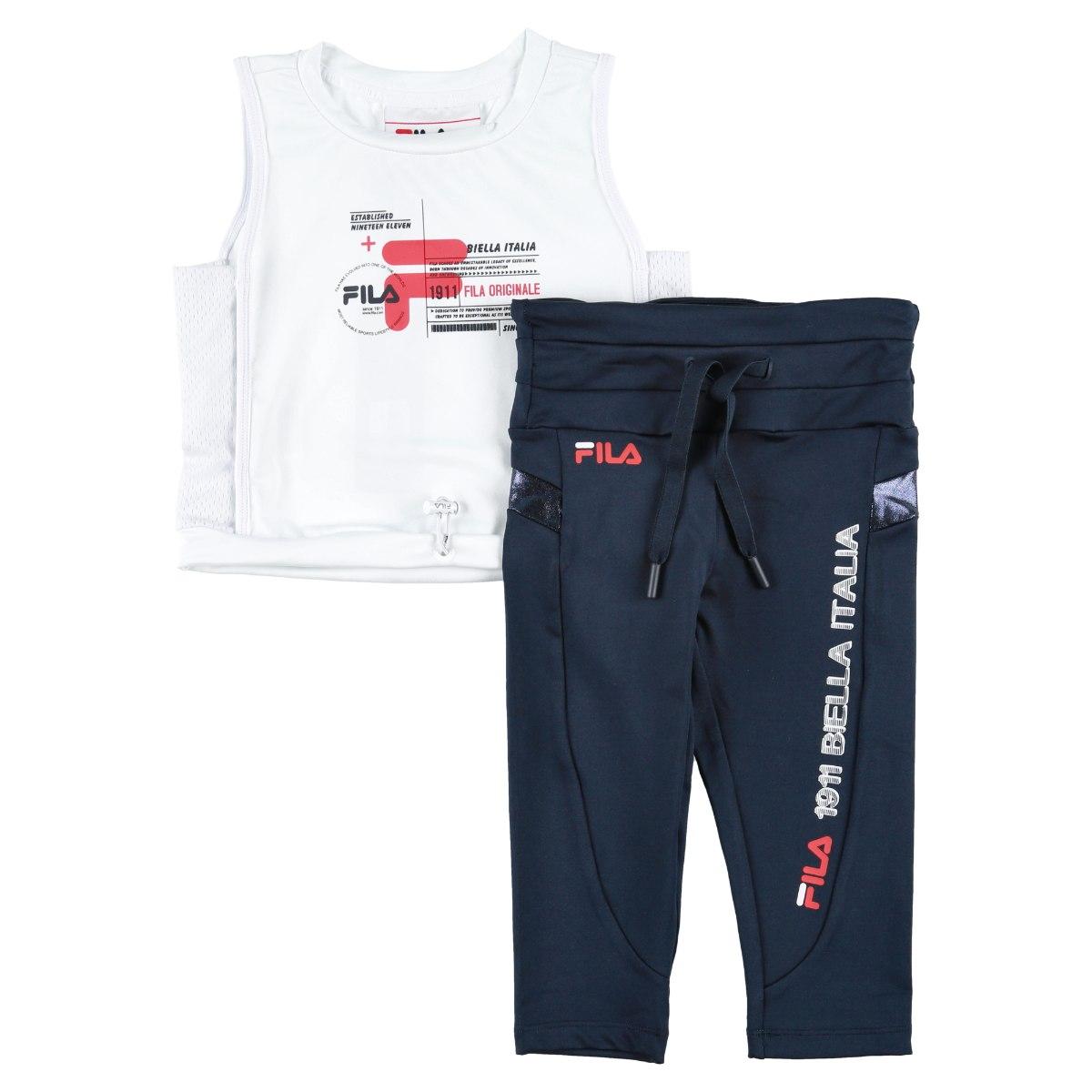 חליפת ספורט FILA לבן/כחול - 6-16 שנים