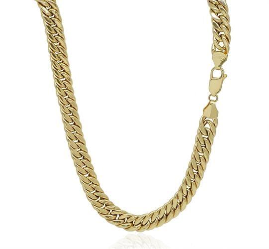שרשרת חוליות עבה לגבר זהב 14K דגם CUBAN