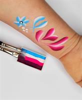 סט מכחולי איכות tag-paint brushes עם מעמד נרתיק למכחולים