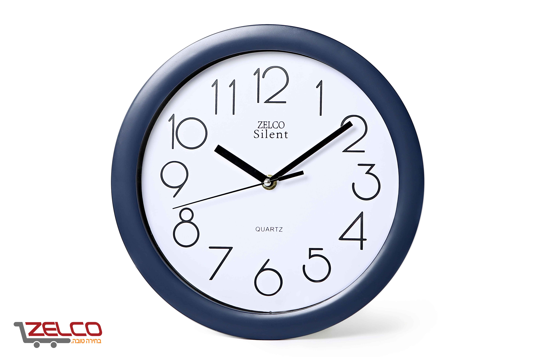 שעון קיר עגול צבע כחול רויאל