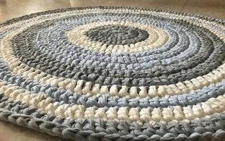 שטיחים סרוגים, שטיח סרוג, שטיח עגול, שטיחים, חדרי ילדים, עיצוב חדרים