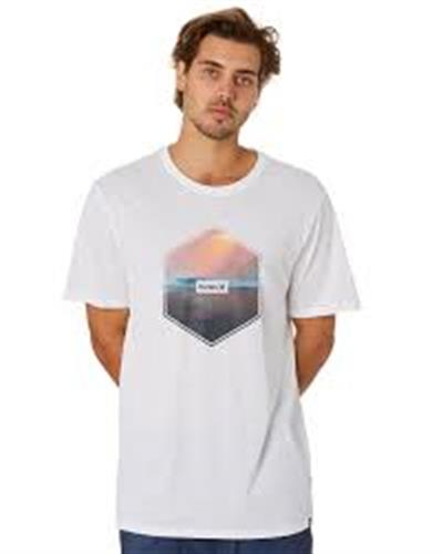 HURLEY Dri-Fit  HEX  T-SHIRT-WHITE