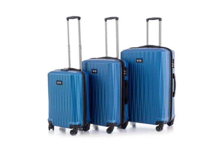 סט 3 מזוודות איכותיות SWISS - צבע כחול