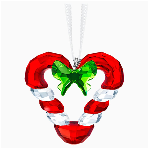 קריסטל Swarovski  CANDY CANE HEART ORNAMENT