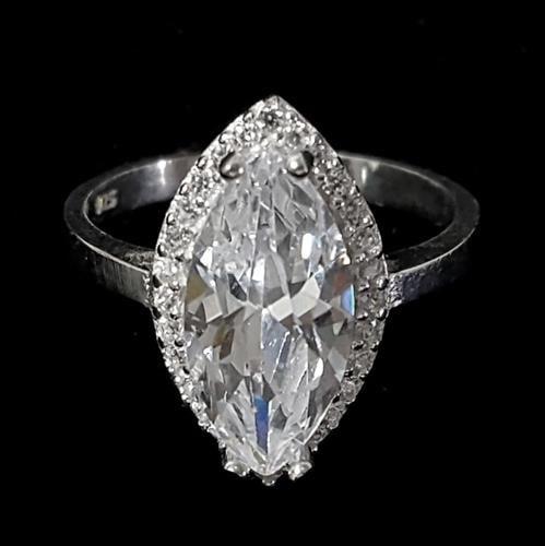 טבעת כסף משובצת זרקונים RG1459 | תכשיטי כסף | טבעות כסף