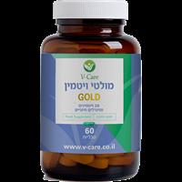 -- מולטי ויטמין גולד (28 ויטמינים ומינרלים) -- 60 טבליות
