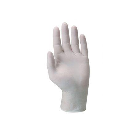 כפפות חד פעמיות לטקס בלי אבקה 100 יחידות - לבן
