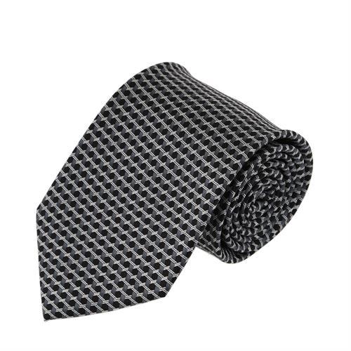 עניבה דגם מגן דוד שחור אפור