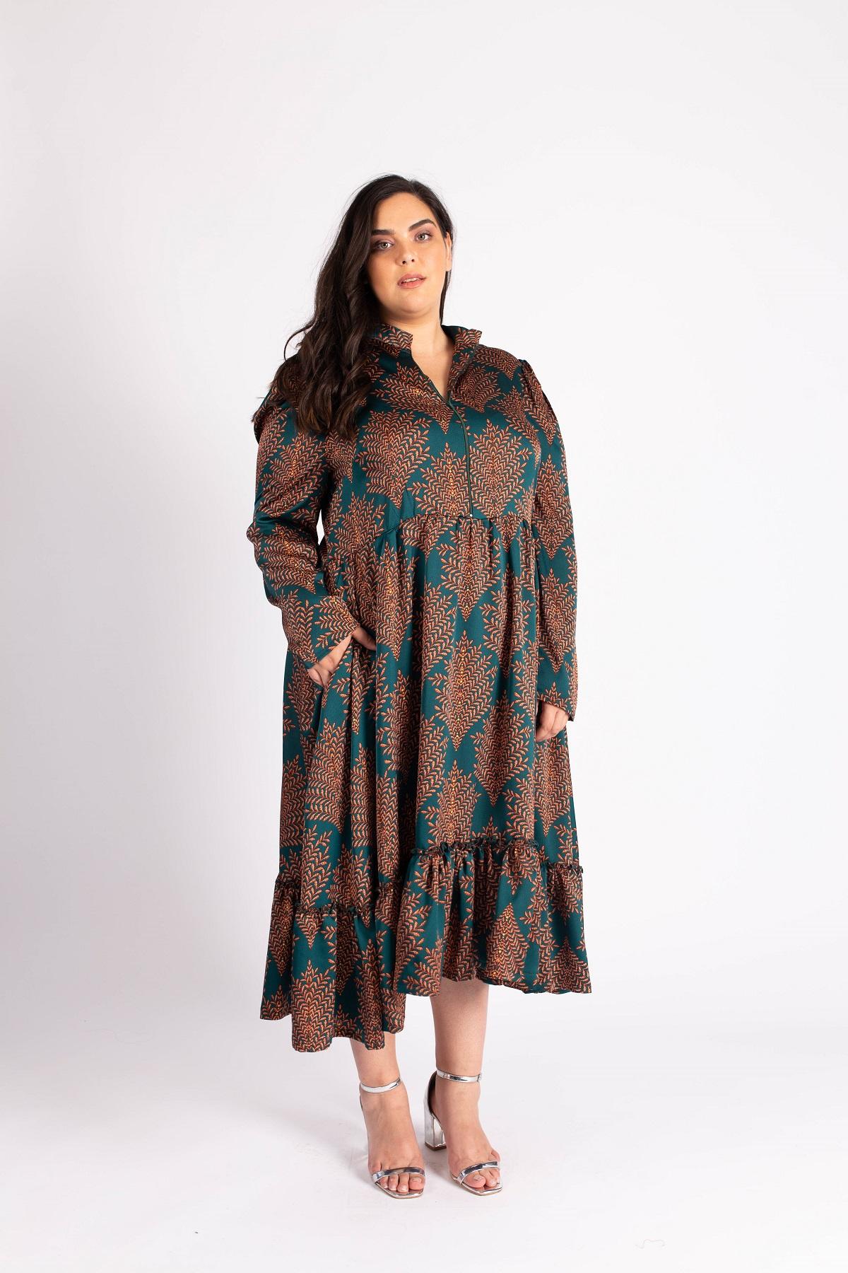 שמלת ג'ייד ירוקה