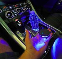 תאורת LED כחולה סולארית לרכב