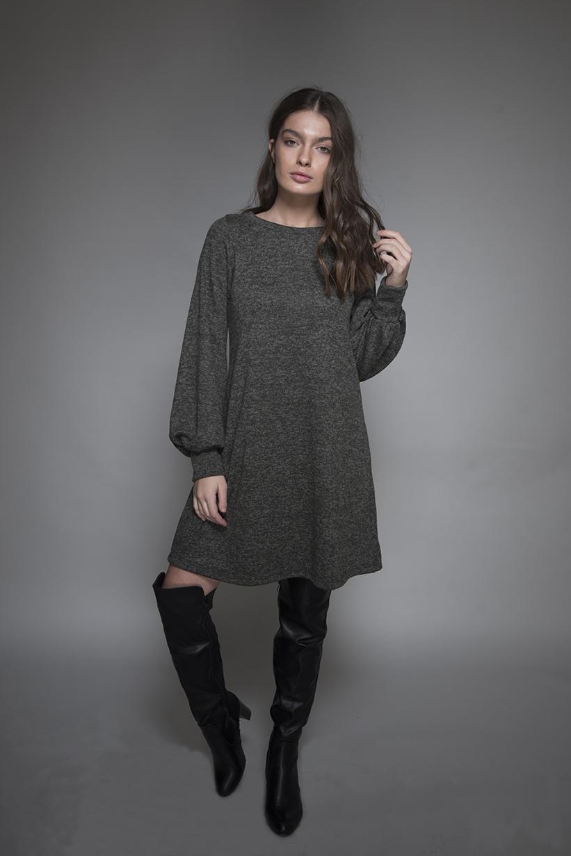שמלה סנדרה זית