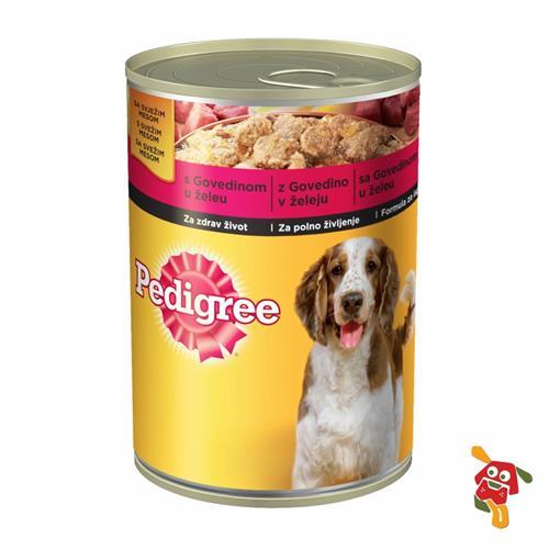 שימור לכלב בקר בג'לי פדיגרי 400 גרם