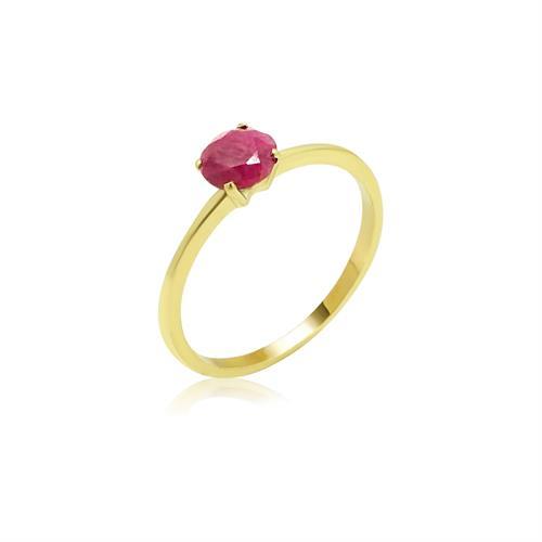 טבעת עם אבן רובי בזהב 14 קרט 1.2 קראט