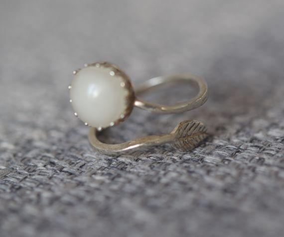 טבעת כסף 925 עלה- שביל החלב-תכשיטים למניקות