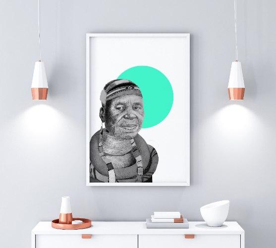 אסתר מהלאנגו- הדפס ציור על נייר