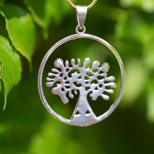 תליון מנדלה עץ החיים בתוך עיגול