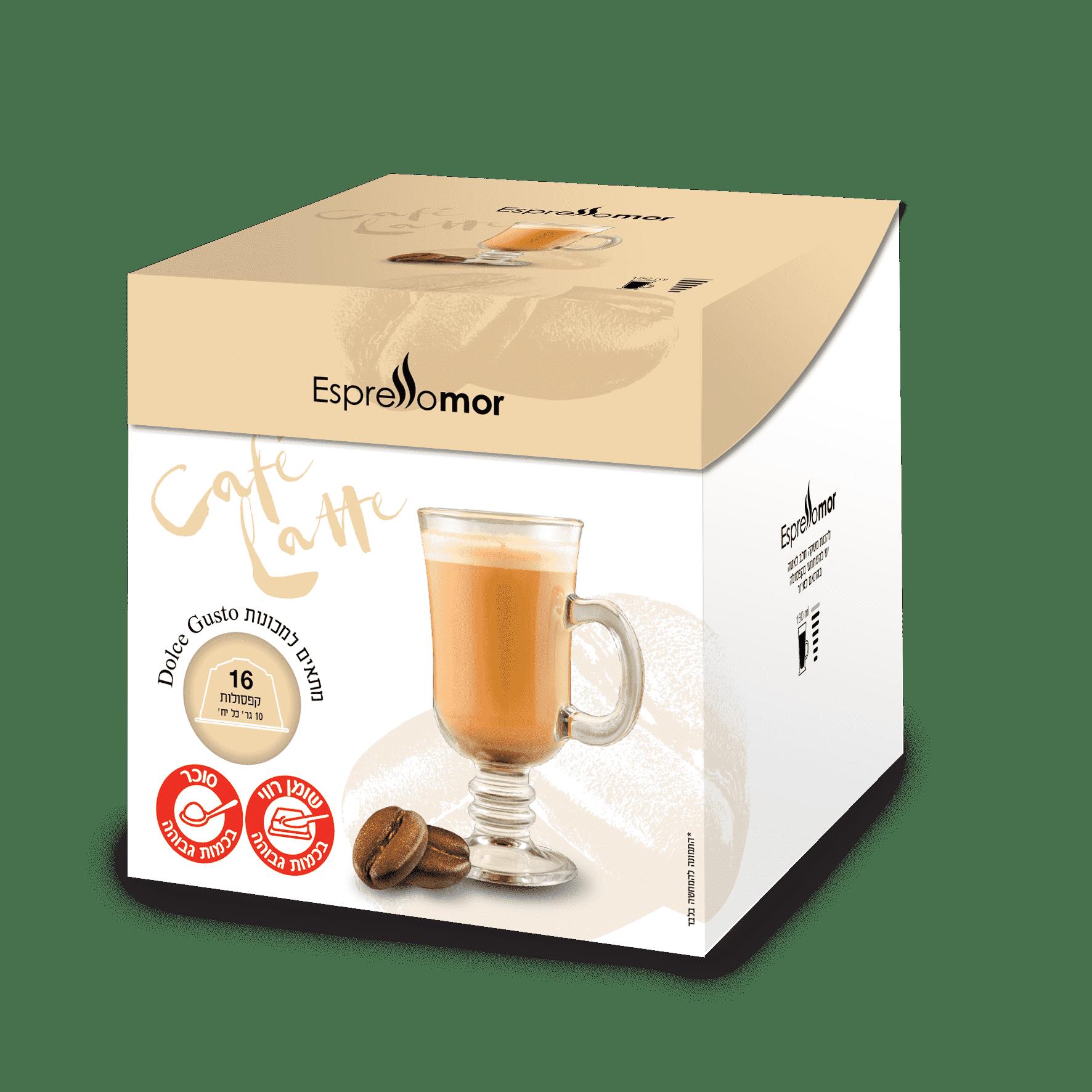 96 קפסולות Caffe Latte -קפה לאטה