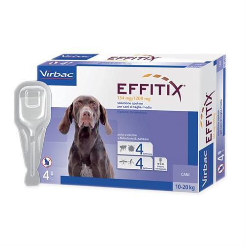 """אפיטיקס טיפות להדברת פרעושים וקרציות בכלבים 10-20 ק""""ג  Virbac Effitix"""