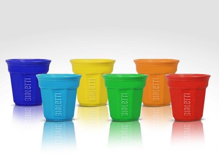 סט 6 כוסות לאספרסו מקרמיקה, BIALETTI