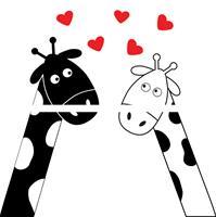 4 יח' טפט להדבקה על דלת כוורת (KALLAX)- ג'ירפות מאוהבות