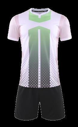 חליפת כדורגל לבן ירוק