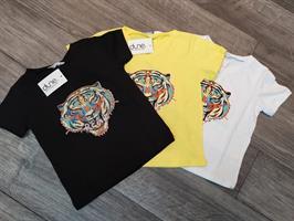 חולצת טישרט טריקו  צווארון V דפוס נמר