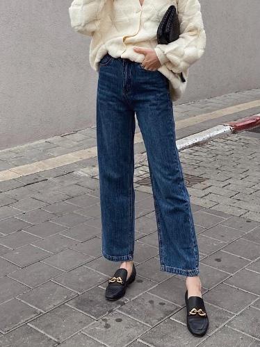 ג'ינס MOM STRAIGHT כחול כהה