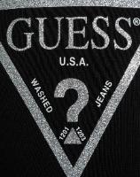 פוטר ניקי שחור לוגו GUESS נצנץ בנות - 2-7 שנים