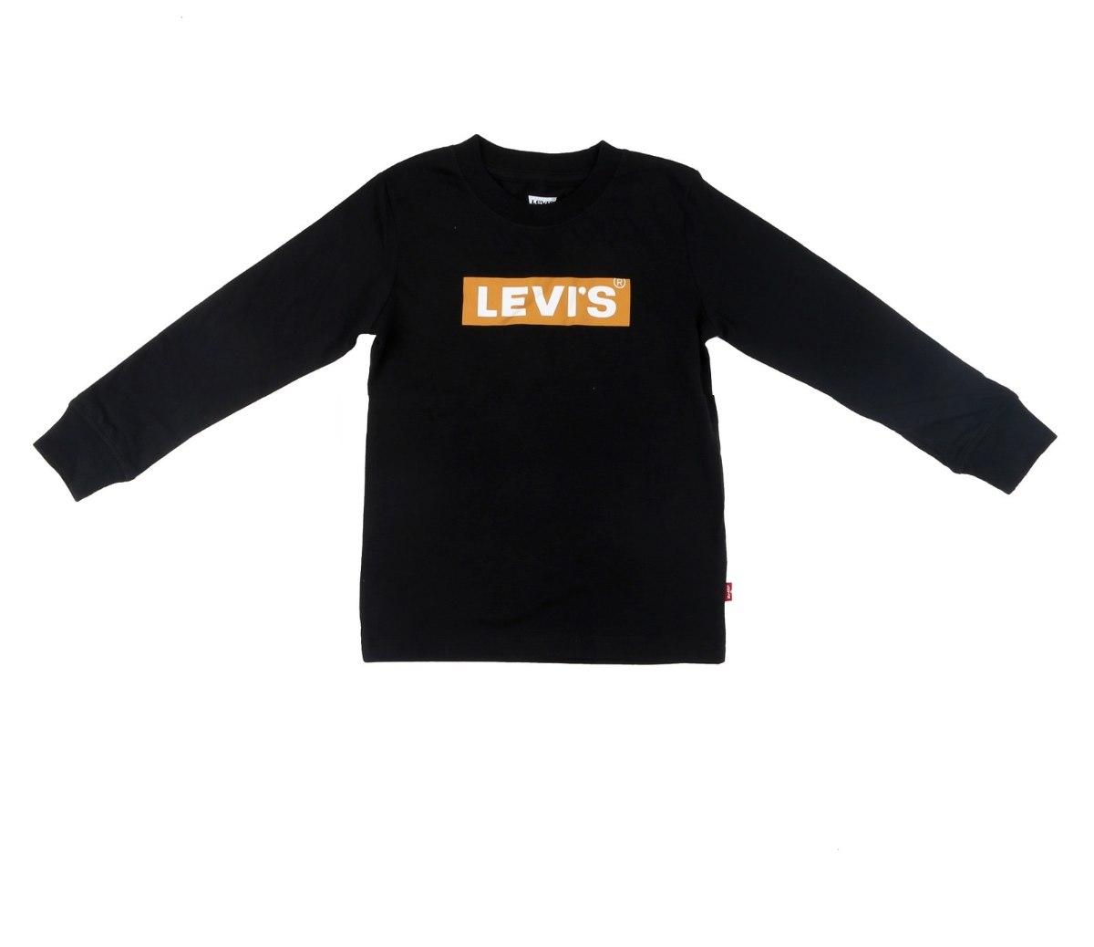 טי שירט LEVIS שחורה לוגו צהוב - מידות 1-13 שנים