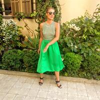 חצאית איימי ירוקה + כיסים