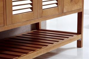 ארון אמבטיה עומד עץ מלא דגם קיוטו QUITO