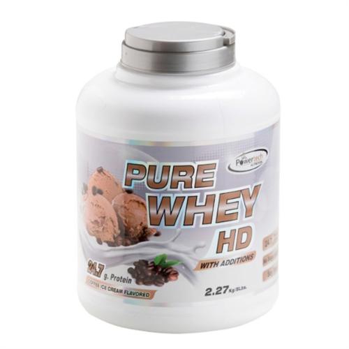 -- אבקת חלבון פאוארטק HD בטעם קפה -- Pure Whey Hd, מכיל   2.3 קג