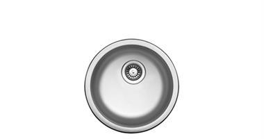 כיור מטבח נירוסטה 304 עגול בהתקנה עליונה/שטוחה במחיר מדהים