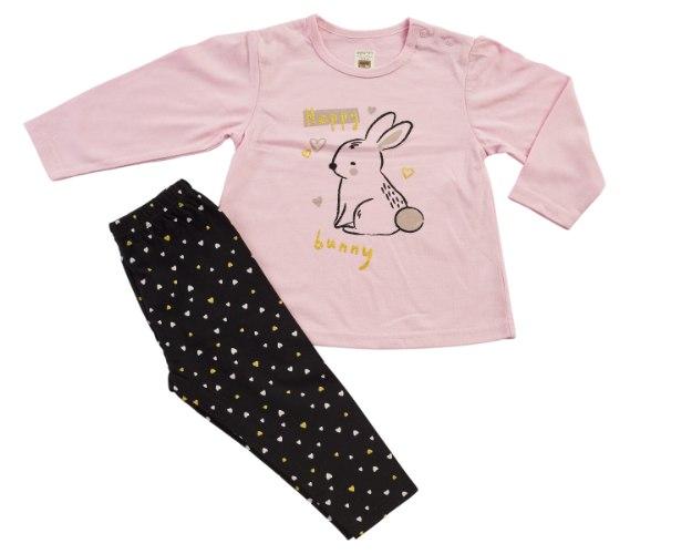חליפת מעבר ארנב ורוד מכנס לייקרה