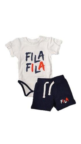 חליפת בגד גוף ומכנס קצר תינוקות  FILA